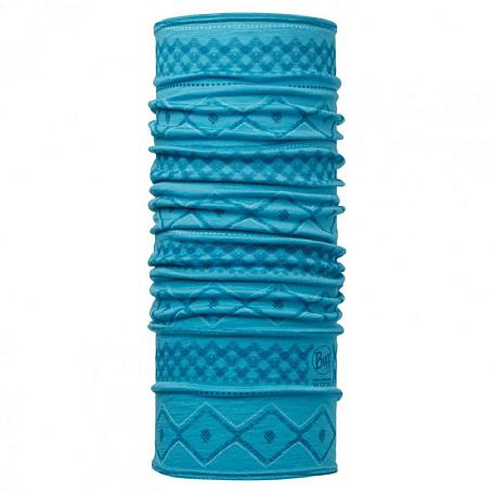 Купить Шарф BUFF Wool Patterned & Dyed Stripes MERINO WOOL RHODA BLUE CAPRI Банданы и шарфы Buff ® 1263376