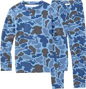 Комплект (футболка дл.рук. + брюки) BURTON 2015-16 YOUTH FLC SET BLU STL DK HNTR CAMO