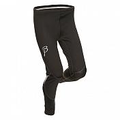 Тайтсы беговыеОдежда для бега и фитнеса<br>Тайцы для тренировок, передняя часть брюк ветрозащитная. Задняя часть специальной вязки, обеспечивающей свободу движений.<br>Плоские швы.<br>Светоотражающие элементы.<br>Эластичный пояс на внутренней шнуровке.<br>Состав: 79% полиамид, 21% эластан