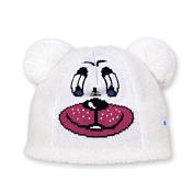 ШапкаГоловные уборы<br>Забавная детская шапочка, в виде мишки. Выполнена из длинноворсового флиса Tecnopile. Состав пряжи: 50% мериносовая шерсть, 50% акрил Цвет:  белый.