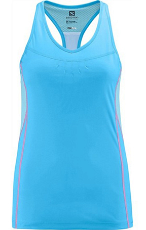 Купить Майка беговая SALOMON 2014 START IMPACT TANK W BL/CLEARWATER, Одежда для бега и фитнеса, 1133644