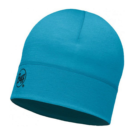 Купить Шапка BUFF WOOL MERINO 1 LAYER HAT SOLID BLUE CAPRI Банданы и шарфы Buff ® 1263594