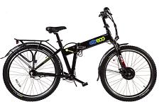 """ВелогибридСкладные электровелосипеды<br>Новая версия велогибрида Patrol Кардан 26"""" с роллерными тормозами.<br> <br> <br> Особенности:<br> <br> Безопасность на этом электровелосипеде поставлена в приоритет. Неслучайно инженеры Eltreco позаботились об усиленной алюминиевой раме, вилке с усилителями дропаутов и прочном корпусе для литиево-ионного аккумулятора от Samsung.<br> Установленный здесь контролер позволяет настраивать любую максимальную скорость без ограничений.<br> Переключатели Shimano Nexus 7 демонстрирует отличную работу в паре с карданной передачей. Передний привод от мотора и задний от педаль делает Patrol полноприводным велогибридом<br> <br> <br> Технические характеристики:<br> <br> Максимальная скорость: не менее 25 км/ч<br> Пробег: 45-60 км<br> Тормоза передние: дисковые тормоза Shimano 160 мм<br> Тормоза задние: Shimano Roller brake<br> Батарея: Li-ion Samsung, 36V<br> Двигатель: Bafang<br> Управление: с помощью ручки газа<br> Размер рамы: 21<br> Тип рамы: складная<br> Вес: от 25 до 30<br> Нагрузка: 110<br> Размер колеса: 26<br> Привод: передний<br> Мощность двигателя: 350W<br> Емкость батареи: 10Ач<br> Подвеска: передняя с амортизацией<br> Тип передачи: кардан<br> <br> <br>"""