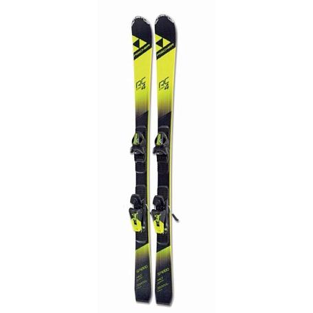 Купить Горные лыжи с креплениями FISCHER 2017-18 RC4 Speed jr. SLR 2+FJ7 AC BRAKE 78 [H] черн./желт. 1366660