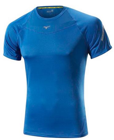 Купить Футболка беговая Mizuno 2014 DryLite Performance tee син, Одежда для бега и фитнеса, 1139442