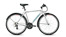 ВелосипедСпортивная посадка<br>Велосипед для комфортного катания в городе.<br> <br> Особенности:<br> <br> - Спортивная посадка для активного катания и путешествий<br> - Top Tube: сечение верхней трубы<br> - Down Tube: сечение нижней трубы<br> <br> Технические характеристики:<br> <br> Страна производства: Россия<br> Вес: 13,7 кг<br> Рама<br> Материал/тип рамы: Алюминиевый сплав 6061<br> Ростовкa рамы: 500540<br> Амортизация<br> Тип амортизации: Жесткая вилка<br> Вилка: Жесткая алюминиевая<br> Рулевой узел<br> Рулевая колонка: Neco, 1 1/8, полуинтегрированная безрезьбовая<br> Вынос руля: Forward, безрезьбовой алюминиевый матовый<br> Руль: Стальной, 25,4х560 мм<br> Тормозная система<br> Тип тормозов: Ободные (V-Brake)<br> Тормоза: Promax TX-119<br> Трансмиссия<br> Количество скоростей: 21<br> Тип переключателя ск.: Обычный переключатель<br> Передний переключатель: Shimano Tourney TY TY710<br> Задний переключатель: Shimano Altus M310<br> Тип шифтеров / манеток: Рычажный<br> Шифтеры / манетки: Shimano Altus EF510<br> Каретка: Neco b910, картриджная<br> Система шатунов: Prowheel MY-AM99, алюминиевые шатуны<br> Трещотка / кассета: Трещотка Shimano Tourney TZ MFTZ21<br> Цепь: KMC HV500 RO<br> Колеса<br> Размер колес: 28<br> Втулки: Joytech, стальные анодированные<br> Материал и тип ободов: Алюминиевые двустеночные<br> Обода: Weinmann SP17, анодированные<br> Покрышки: Rubena Flash, 700x40C (22tpi)<br> Защита спиц заднего колеса: Есть<br> Дополнительно<br> Седло: Cionlli City<br> Подседельный штырь: Алюминиевый сплав 6061, 27,2x300 мм<br> Крылья: Полноразмерные стальные крашеные<br> Возможность крепления багажника: Есть<br> Подножка: Есть<br> Возможность крепления на раме флягодержателя и насоса: Есть<br>Передний и задний катафот: Есть