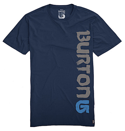 Футболка для активного отдыха BURTON 2011-12 Men's slim fit tees BRUSHED SS SLIM FIT TEE TEAM BLUE