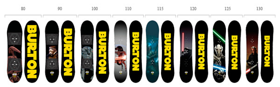 Сноуборд BURTON 2013-14 CHOPPER STAR WARS