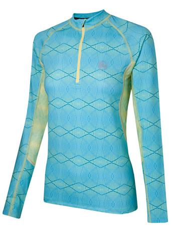 Купить Футболка с длинным рукавом беговая BUFF Sugarloaf (Aqua) голубой Одежда лыжная 808455