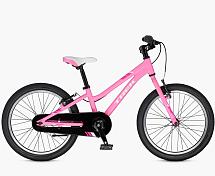 Велосипед6-9 лет (колеса 20)<br>Комфортный детский велосипед для девочек 7-9 лет<br> <br> <br> Особенности:<br> <br> - геометрия рамы специально для девочек<br> - ободные тормоза не требуют настройки<br> - защита цепи<br> <br> <br> Технические характеристики:<br> <br> Рама: Alpha Silver Aluminum, 20 Dialed<br> Размер рамы: -<br> Вилка: Сталь, Dialed 20<br> Тип вилки:&amp;nbsp;<br> Диаметр колес: 20<br> Кол-во скоростей: 1<br> Переключатель задний : -<br> Переключатель передний: -<br> Шифтеры: -<br> Тип тормозов: ободные<br> Тормоза: V-brake<br> Система: Dialed adjustable length 120 мм - 140 мм, 32T<br> Кассета: 18T freewheel<br> Покрышки: Bontrager Dialed, 20 x 1.8