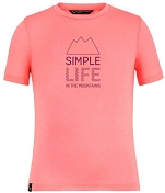 Футболка для активного отдыха Salewa 2020 Simple Life Dri-Rel K S/S Shell Pink Melange