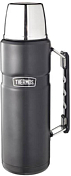 Термос Thermos со стальной колбой SK2020 Matte Black King Stainless Steel Vacuum Flask. 2.0L