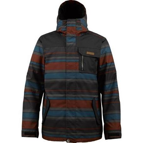 Купить Куртка сноубордическая BURTON 2013-14 MB POACHER JK T BLK LEEDS STRIPE Одежда 1021678