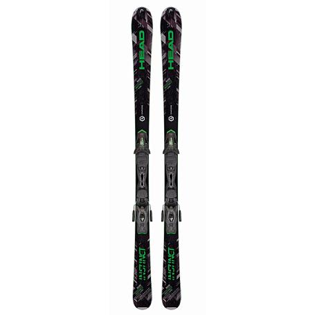 Купить Горные лыжи с креплениями HEAD 2016-17 Raw INSTINCT SW Ti Pro AB + PR 11 black/neon green 1286909