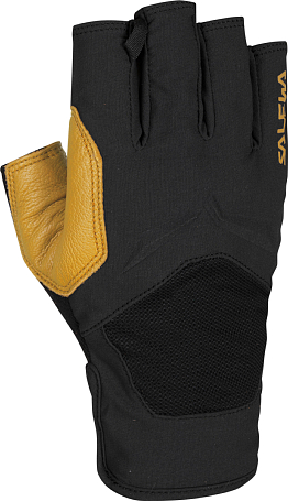 Перчатки горные Salewa 2015 Alpine Gloves VIA FERRATA LEATHER GLOVES black/2450 / черный
