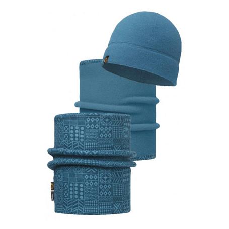 Купить Комплект (шапка+бандана) BUFF POLAR COMBO DENVER OCEAN Банданы и шарфы Buff ® 1239369