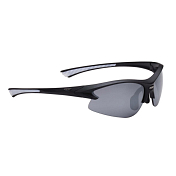Очки солнцезащитные BBB Impulse PC Smoke flash mirror lens  white tips matt black (BSG-38)