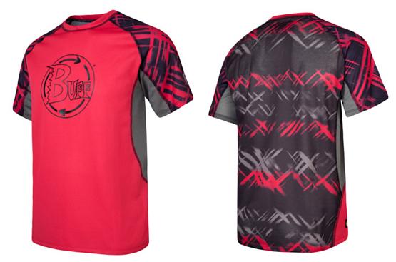 Купить Футболка беговая BUFF T-SHIRT S.SL. LARSEN (CRIMSON) красный/черный Одежда для бега и фитнеса 759580
