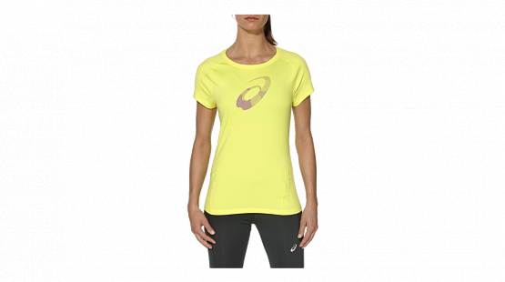 Футболка беговая Asics 2015 Graphic Top Желтый