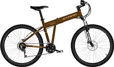 ВелосипедСпортивная посадка<br>Складной городской велосипед для любителей<br> <br> Особенности:<br> <br> - легкая алюминиевая рама<br> - малый вес и компактность<br> <br> Технические характеристики:<br> <br> Рама: AL 6061 MTB folding<br> Размер рамы: 18, 20<br> Вилка: Zoom 386 MLO&amp;nbsp;<br> Тип вилки: пружинная<br> Диаметр колес: 26<br> Кол-во скоростей: 21<br> Переключатель задний : Shimano RD-TY300D<br> Переключатель передний: himano FD-TX50<br> Шифтеры: Shimano ST-EF41<br> Тип тормозов: дисковый механический <br> Тормоза: Zoom DB-280, диаметр ротора 160 мм<br> Система: 42/34/24T<br> Кассета: Shimano MFTZ21, 14-28T<br> Покрышки: Kenda-1153, 26 x 1,95<br> <br> Рекомендуемые аксессуары:<br>