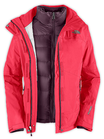 Куртка туристическая THE NORTH FACE 2012-13 Outerwear W MOUNTAIN LIGHT TRICLIMATE JACKET (TEABERRY PINK) розовый