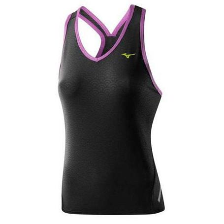 Купить Майка беговая Mizuno 2014 DryLite Wave Tank чер Одежда для бега и фитнеса 1139497