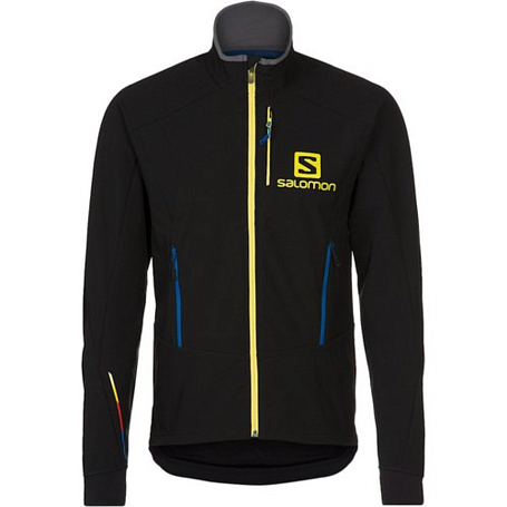 Куртка беговая SALOMON MOMEMTUM SOFTSHELL JACKET M BLACK
