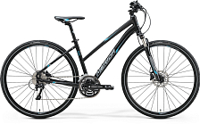 Велосипед MERIDA Crossway 500-Lady 2017 Matt Black - Blue/Grey
