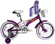 ВелосипедДо 6 лет (колеса 12-18)<br>елосипед для детей ростом от 110 до 115 см<br> <br> <br> Особенности:<br> <br> - легкая алюминиевая рама<br> - мягкие накладки на раме и руле, цепь закрыта<br> - боковые колеса, звонок и крылья в комплекте<br> <br> Технические характеристики:<br> <br> Рама: AL 6061 Kids<br> Размер рамы: one size<br> Тип вилки: жесткая<br> Диаметр колес: 16<br> Тип тормозов: ножной педальный<br> Кассета: Кассета 16T<br> Система: 28T Steel<br> Покрышки: Wanda 16х2,125<br> <br> <br> Рекомендуемые аксессуары: