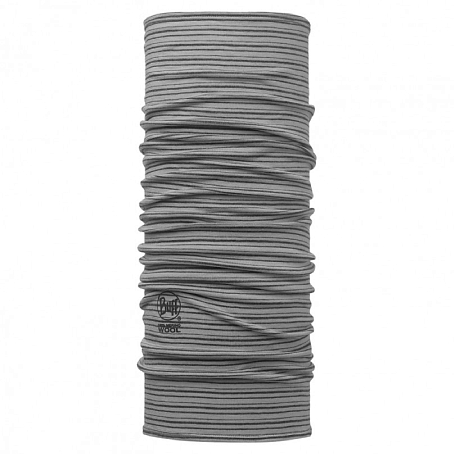 Купить Бандана BUFF LIGHT MERINO WOOL GREY STRIPES Банданы и шарфы Buff ® 1263392