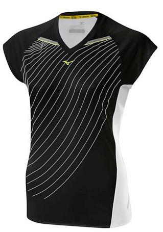 Купить Футболка беговая Mizuno 2014 DryLite Premium Tee чер/бел Одежда для бега и фитнеса 1139470