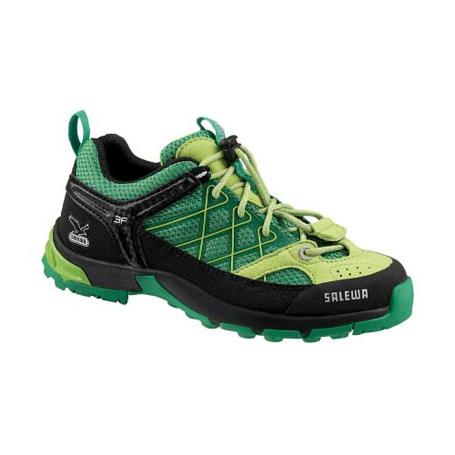 Купить Ботинки для треккинга (низкие) Salewa Junior Approach JUNIOR FIRETAIL eucalyptus - wasabi Треккинговая обувь 896893