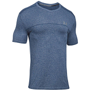 Футболка беговая Under Armour 2019 Threadborne seamless Run SS blue strike/black/black