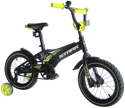 Купить Велосипед Stark Tanuki 14 Boy 2017 Черно-Зеленый До 6 лет (колеса 12 -18 ) 1317882