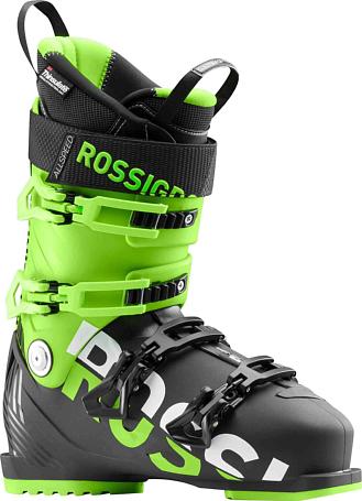 Купить Горнолыжные ботинки ROSSIGNOL 2017-18 ALLSPEED 100 BLACK/GREEN Ботинки горнoлыжные 1363775