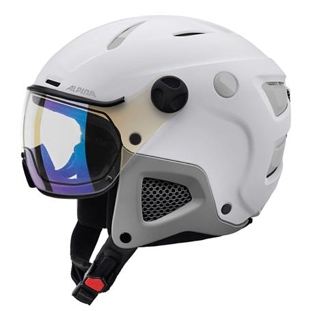 Купить Зимний Шлем Alpina ATTELAS Visor VHM white-grey matt Шлемы для горных лыж/сноубордов 1279906