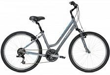 ВелосипедДля города<br>Женский комфортный велосипед Trek Shift 2 WSD 2016. Trek Shift 2 WSD 2016 станет прекрасным подарком для каждой поклонницы активного отдыха!<br> <br> Рама и амортизаторы<br> <br> Рама: Alpha Gold Aluminium<br> Вес всего велосипеда: 15.5 кг<br> <br> Цепная передача<br> <br> Манетки: SRAM 3.0 Comp, 7 speed twist<br> Передний переключатель: Shimano M191<br> Задний переключатель: SRAM X3<br> Шатуны: Forged alloy, 48/38/28 w/chainguard<br> Кассета: SunRace Freewheel 14-34, 7 speed<br> Педали: Wellgo nylon platform<br> <br> Колеса<br> <br> Обода: Formula FM21 alloy front hub; Formula FM31 alloy rear hub w/Bontrager AT-550 36-hole alloy rims<br> <br> Компоненты<br> <br> Передний тормоз: Tektro alloy linear-pull brakes w/Tektro adjustable-reach alloy, Kraton insert levers<br> Задний тормоз: Tektro alloy linear-pull brakes w/Tektro adjustable-reach alloy, Kraton insert levers<br> Грипсы: Bontrager Satellite<br> Руль: Steel, 80mm rise<br> Вынос: Alloy, adjustable rise, quill<br> Рулевая колонка:&amp;nbsp;1-1/8, semi-integrated, semi-cartridge bearings<br> Седло:&amp;nbsp;Bontrager Suburbia WSD w/super-soft padding<br> Подседельный штырь: Alloy, adjustable suspension, 31.6mm<br><br>Пол: Женский<br>Возраст: Взрослый