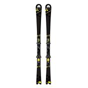 Горные лыжи с креплениямиГорные лыжи<br>Профессиональная, агрессивная и быстрая лыжа. Геометрия, максимально приближенная к цеховым слаломным моделям, гарантирует идеальное выполнение поворотов малого и среднего радиуса.<br><br>Геометрия: 122-68-103<br>Крепление: RC4 Z12 Powerrail Brake 85<br>Радиус: 13m/165cm<br>Уровень подготовки: 8-10<br>Трасса (ON): 1-10<br><br>Пол: Унисекс<br>Возраст: Взрослый