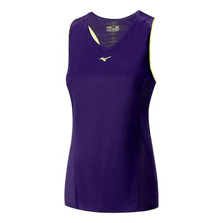 Купить Майка беговая Mizuno 2016 Cooltouch Phenix Sleeveless пурпурный Одежда туристическая 1264885