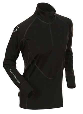 Купить Футболка с длинным рукавом беговая Bjorn Daehlie Top FINNMARK Women Black/Phantom (черный/серый) Одежда лыжная 776041