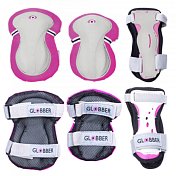 Комплект защиты Globber Protective junior set XS розовый