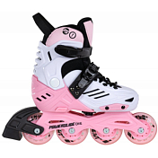 Роликовые коньки Powerslide 2021 Khaan junior LTD Pink/white/Grey