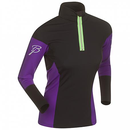 Купить Футболка с длинным рукавом беговая Bjorn Daehlie JACKET/PANTS Top NEW FINNMARK Women Black/Tillandsia Purple (Черный/фиолетовый) Одежда для бега и фитнеса 1102899