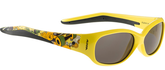 Купить Очки солнцезащитные Alpina JUNIOR / KIDS Flexxy Kids yellow print/black S3 1131864