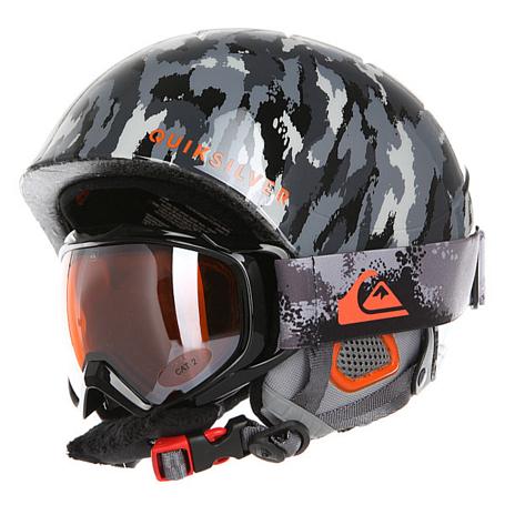 Купить Зимний Шлем Quiksilver 2016-17 GAME PACK B HLMT KZE9 WAXDOTCAMO GREY Шлемы для горных лыж/сноубордов 1309423