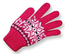 Перчатки флисПерчатки, варежки<br>Детские трикотажные перчатки<br>Состав: 50% шерсти мериноса, 50% полиакрил