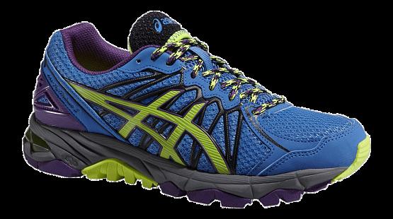 Купить Беговые кроссовки для XC Asics 2015 GEL-FujiTrabuco 3 голуб./желт./фиолет. Кроссовки бега 1181770