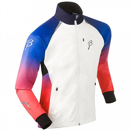 Купить Куртка беговая Bjorn Daehlie JACKET/PANTS Jacket DEFEAT Blue/Red Fading (Синий/красный) Одежда лыжная 1103214