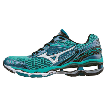 Кроссовки ELITE Mizuno 2016 Wave Creation 17 (W) бирюз/бел/чер