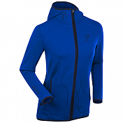 Флис беговой Bjorn Daehlie JACKET/PANTS Full Zip TOURING Hoody Women Surf the Web/Phantom/Evening Blue (Синий)